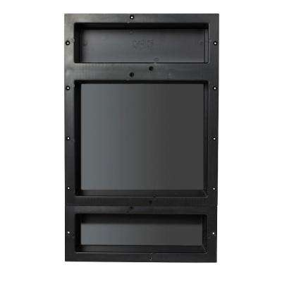 16 in. x 20 in. Triple Niche Set in Black