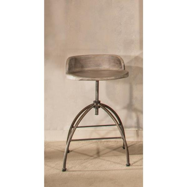 6fc62b28ed3a51 Bridgewater Adjustable Height Black Bar Stool. by Hillsdale Furniture