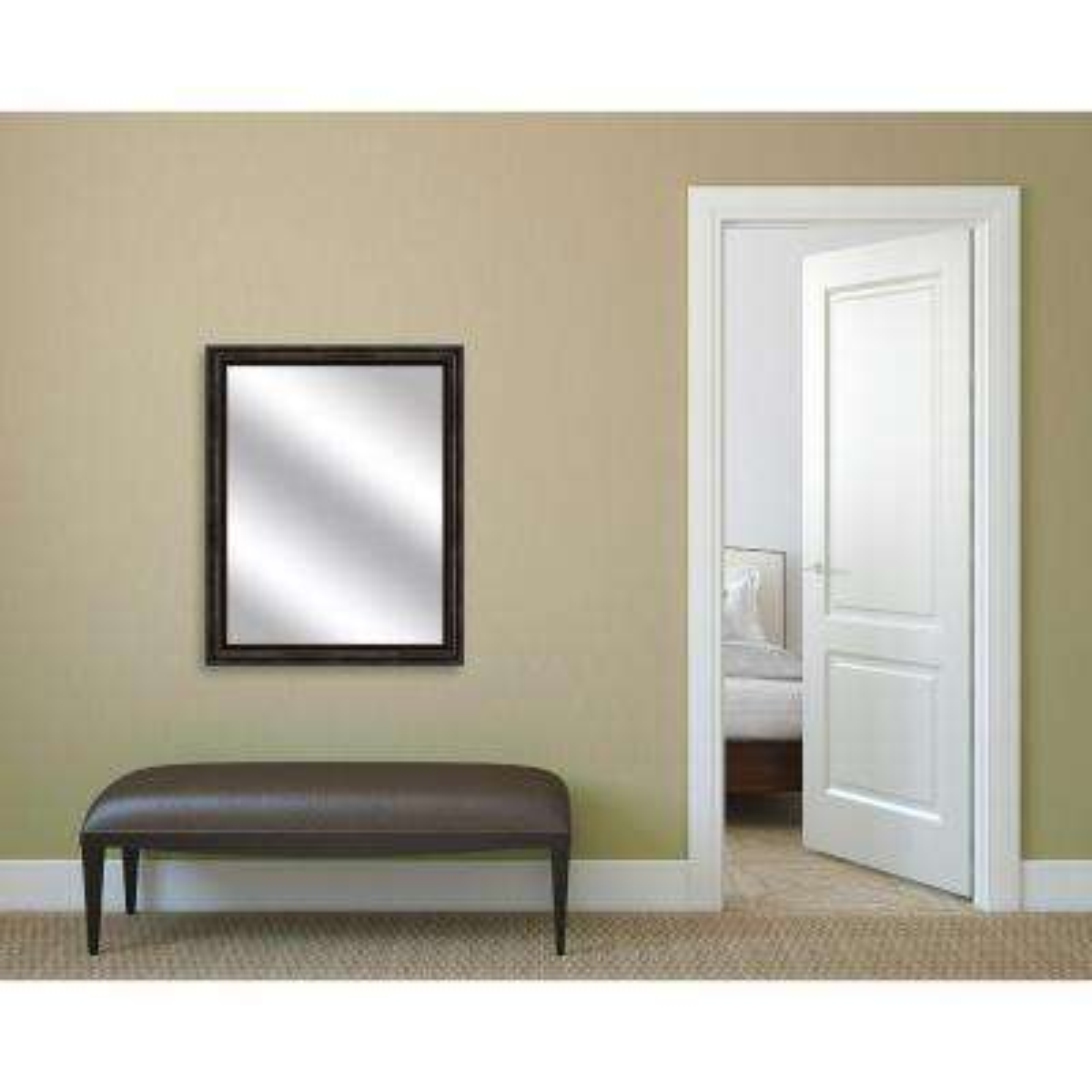 32.75 in. x 26.75 in. Dark Bronze Framed Mirror