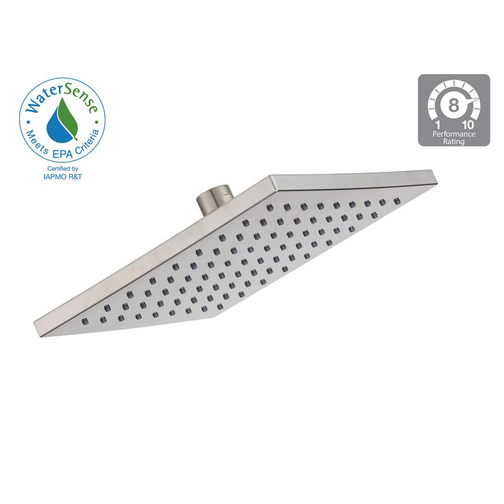 Glacier Bay Modern 1-Spray 8 in. Square Raincan Showerhead in ...