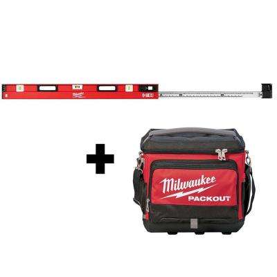 48 in. to 78 in. REDSTICK Expandable Magnetic Box Level W/ PACKOUT Cooler Bag