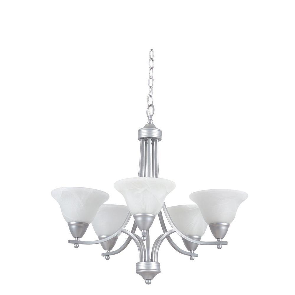 Metropolitan 5-Light Pewter Chandelier