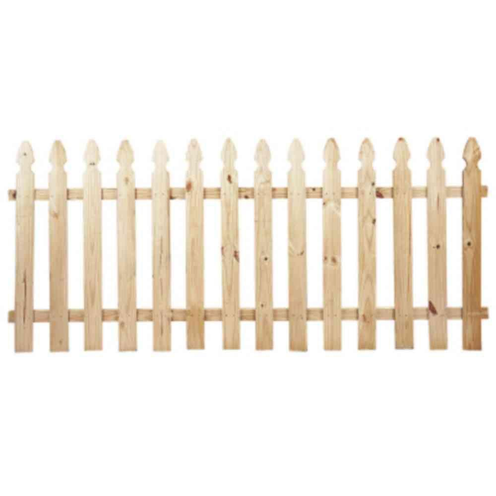 3.5 ft. H x 8 ft. W Pressure-Treated Pine French Gothic Fence Panel ...