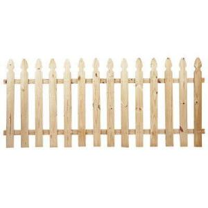 3.5 ft. H x 8 ft. W Pressure-Treated Pine French Gothic Fence Panel