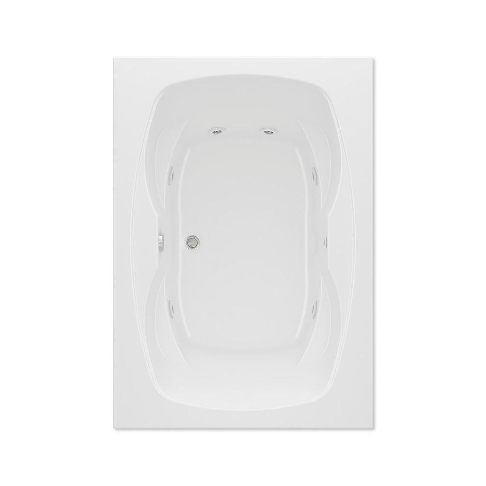 Hialeah I 5 ft. Acrylic Center Drain Rectangular Drop-in Whirlpool Bathtub