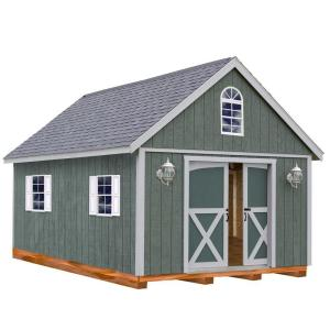 Best Barns Belmont 12 ft. x 16 ft. Wood Storage Shed Kit with Floor including 4 x 4 Runners by Best Barns