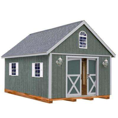 Belmont 12 ft. x 16 ft. Wood Storage Shed Kit with Floor including 4 x 4 Runners