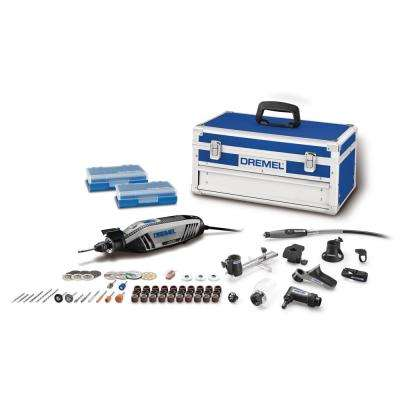 4300 Series 1.8 Amp Variable Speed Corded Rotary Tool Kit with Mounted Light, 64 Accessories, 9 Attachments and Case