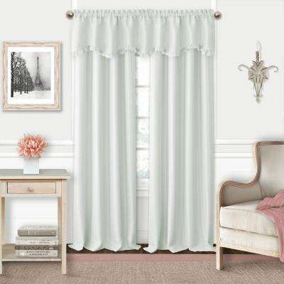 Adaline 52 in. W x 15 in. L Polyester Rod Pocket Single Window Valance in Pearl Gray