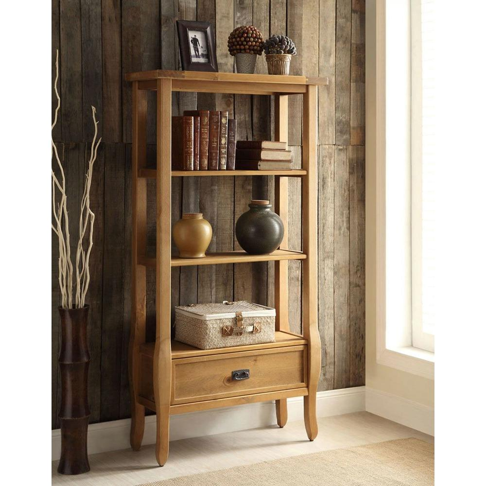 Linon Home Decor Santa Fe Antique Pine Open Bookcase