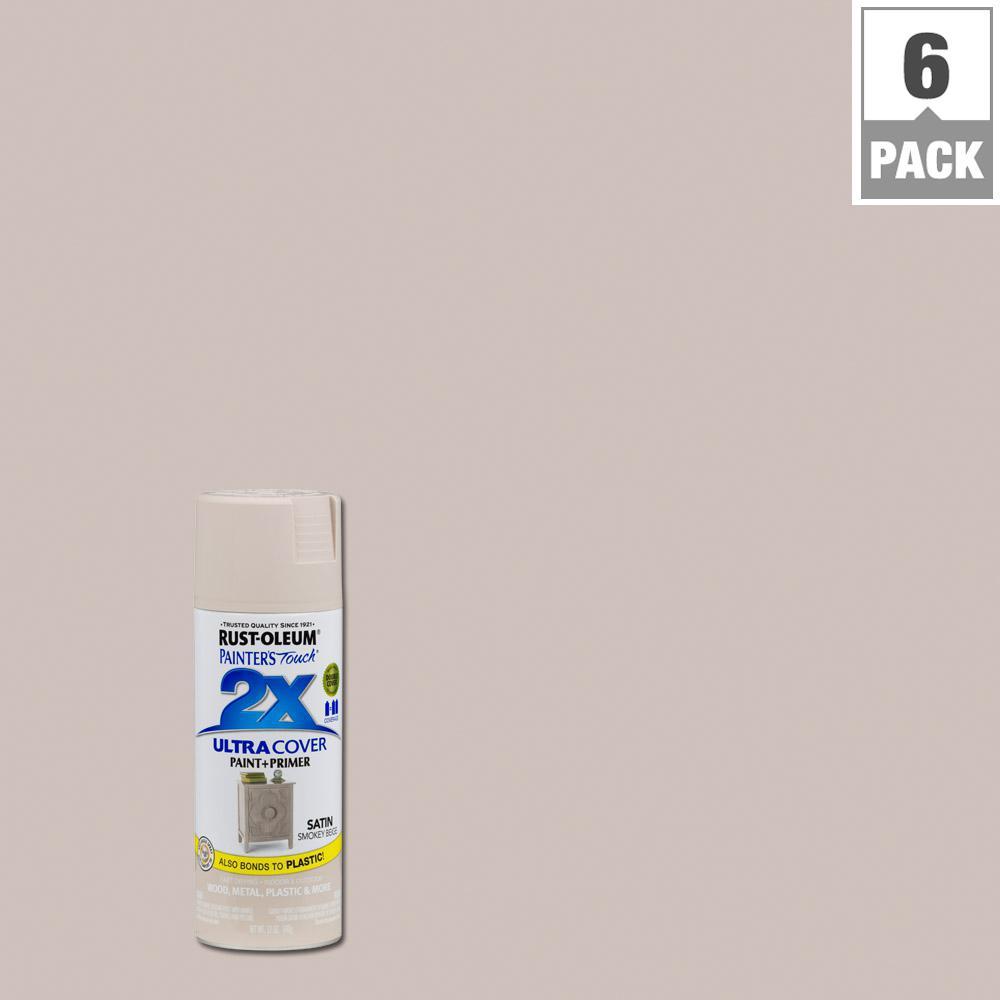 12 oz. Smokey Beige Satin General Purpose Spray Paint (6-Pack)
