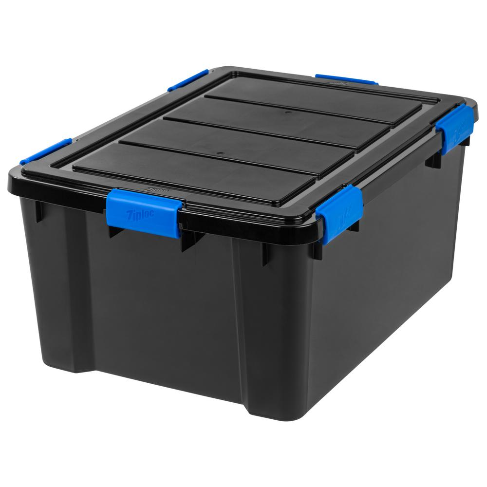 IRIS 60 Qt. Ziploc Weather Shield Storage Box In Black
