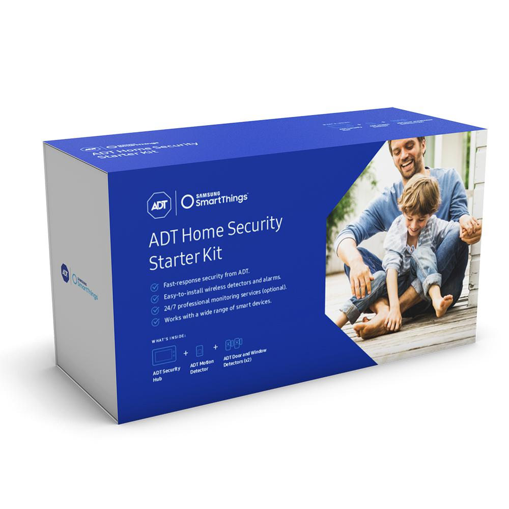samsung smartthings adt home security starter kit f adt str kt 1 the home depot. Black Bedroom Furniture Sets. Home Design Ideas