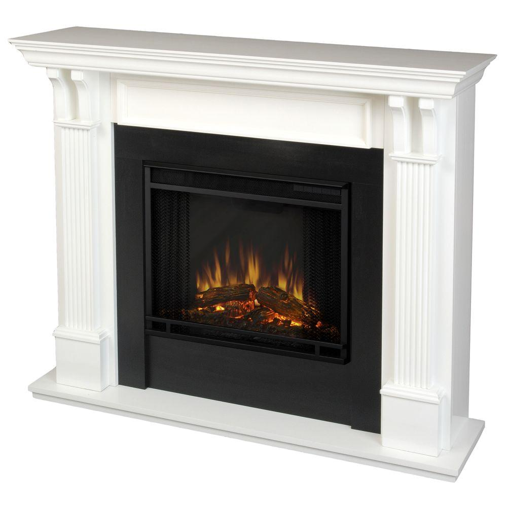 Add a modern and sleek design to your dwelling needs by choosing this excellent Real Flame Ashley Electric Fireplace in White.