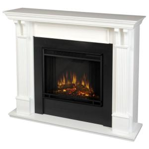 Real Flame Ashley 48 inch Electric Fireplace in White by Real Flame