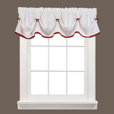 Kate 13 in. L Polyester Valance in Berry