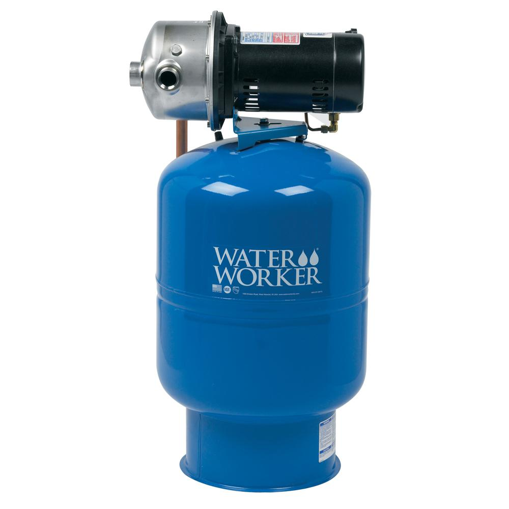 WaterWorker City Water Pressure Booster System with 14 Ga...