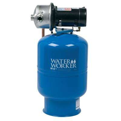City Water Pressure Booster System with 14 Gal. Well Tank, 1/2 HP Pump and Digital Pressure Control