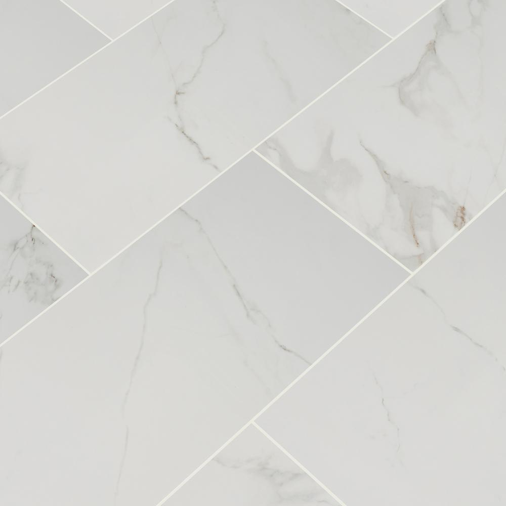 MSI 30 in. x 30 in. Carrara Polished Porcelain Floor and Wall Tile (30 sq.  ft./case)