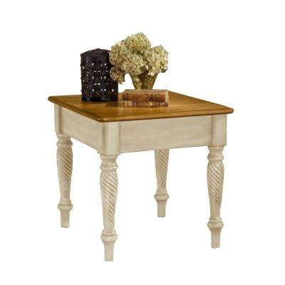 Wilshire Antique White End Table