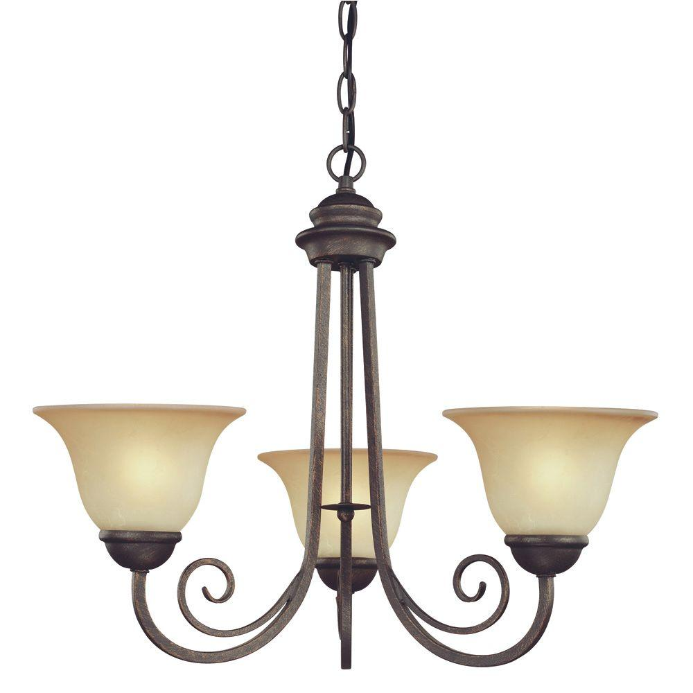 Elegant Designs 2-Light Copper Kitchen Pot Rack Light With