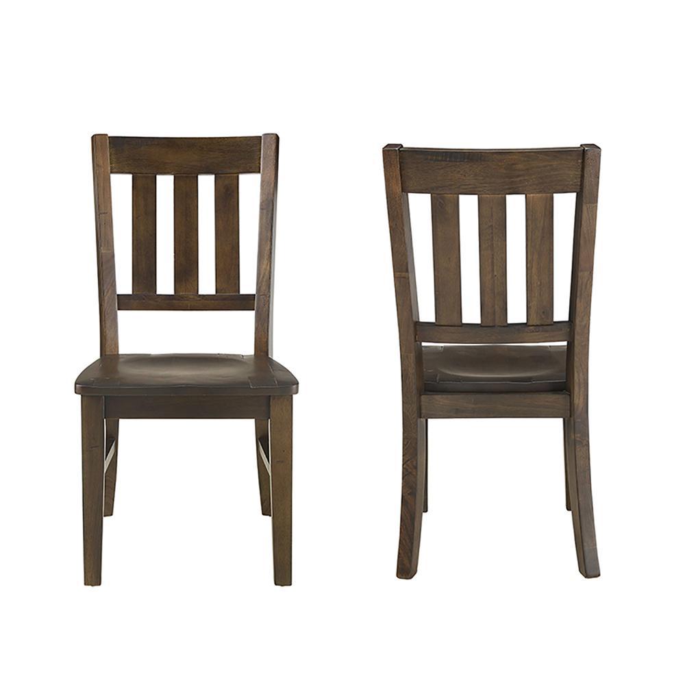 Mayla Latte Wood Side Chair (Set of 2)