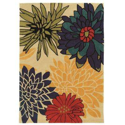 Trio Collection Ivory and Multi 8 ft. x 10 ft. Indoor Area Rug