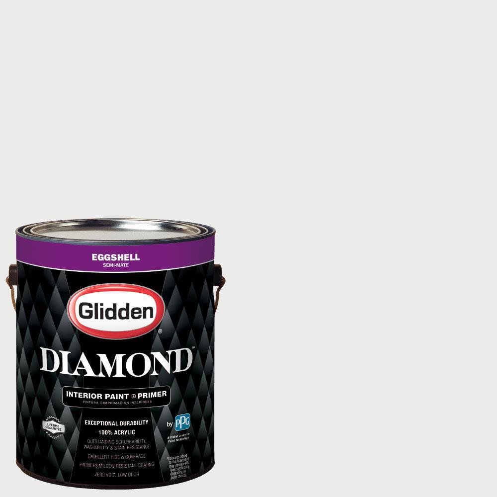Glidden Diamond 1 gal. #nfl-041C Green Bay Packers White Eggshell Interior Paint with Primer