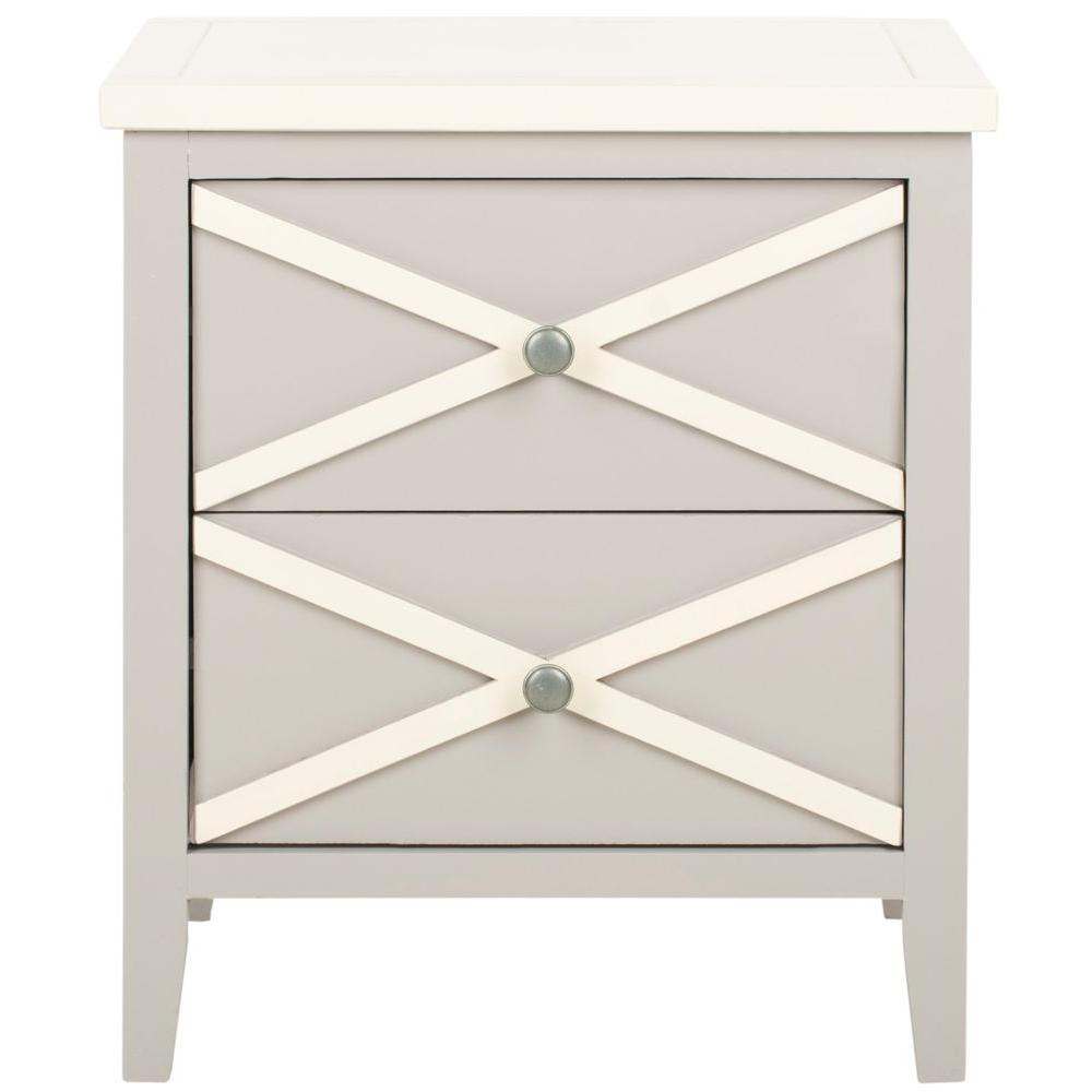 Safavieh Sherrilyn Gray Storage Side Table