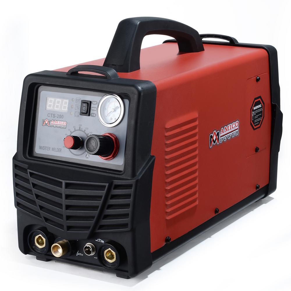 Plasma Cutter/TIG/Stick Arc 3-in-1 Combo DC Welder 50A-Plasma Cutter 200A-TIG-Torch 200A-Stick Arc Welding Machine
