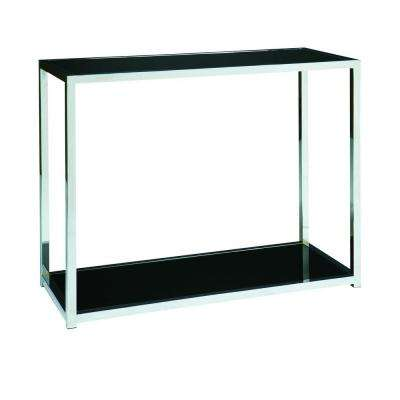 Yield Chrome and Black Console Table