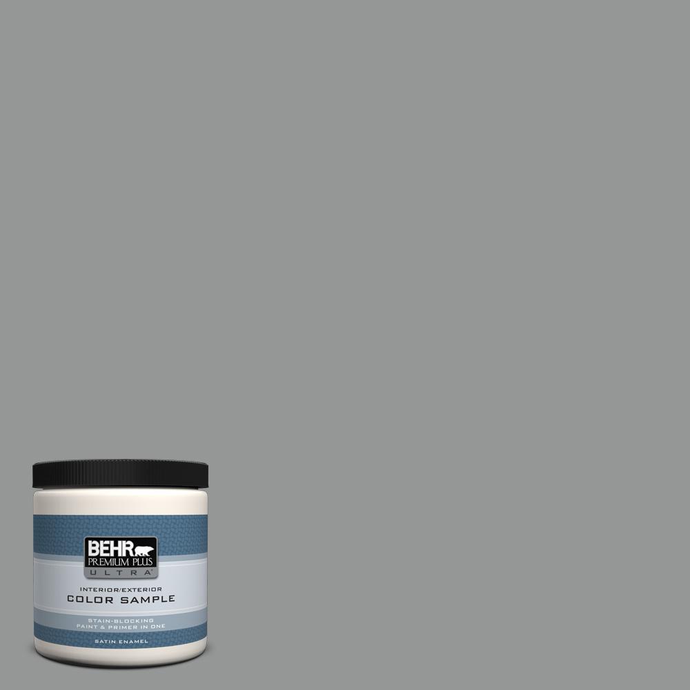 Behr Exterior Paint Home Depot behr premium plus ultra 8 oz. ppu2419 shark fin satin enamel