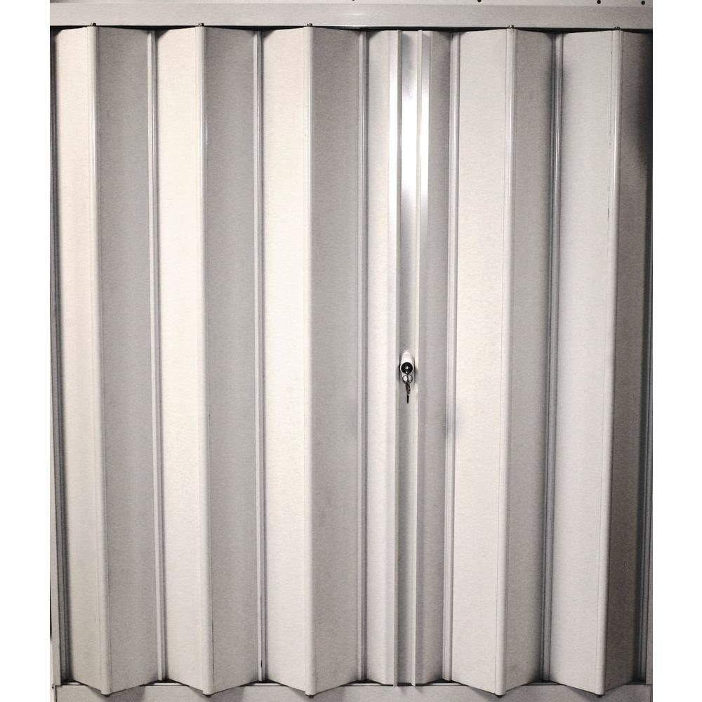 POMA 94.25 in. x 104 in. Accordion Hurricane Shutter