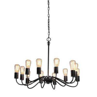 12-Light Black Chandelier