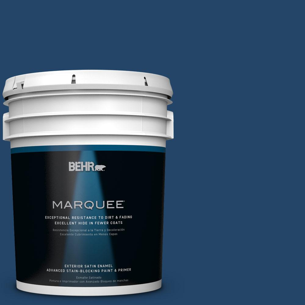 5-gal. #PPF-57 Lake View Satin Enamel Exterior Paint