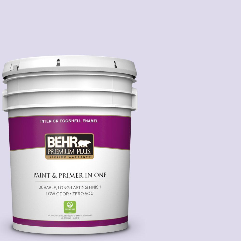 BEHR Premium Plus 5-gal. #640A-2 Misty Violet Zero VOC Eggshell Enamel Interior Paint