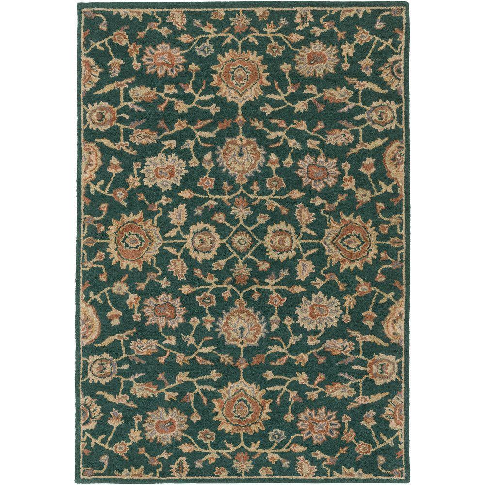 Artistic Weavers Origin Abigail Dark Green 5 Ft. X 8 Ft