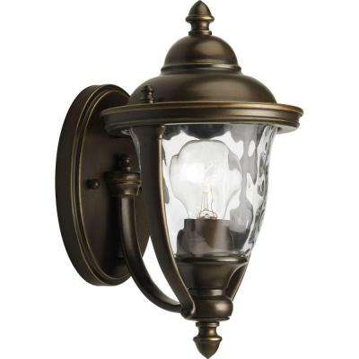 Prestwick Collection 1-Light Oil-Rubbed Bronze 11 in. Outdoor Wall Lantern