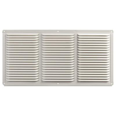 16 in. x 8 in. Aluminum Under Eave Soffit Vent in White