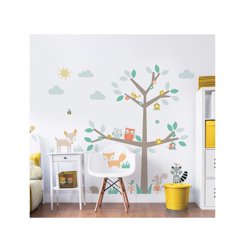Walltastic Green Woodland Tree And Friends Wall Stickers