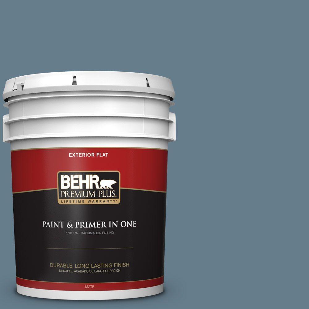 BEHR Premium Plus 5-gal. #ECC-31-1 Windy Seas Flat Exterior Paint