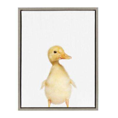 "Sylvie ""Animal Studio Duck"" by Amy Peterson Framed Canvas Wall Art"
