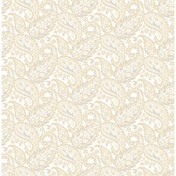 A-Street Adrian Honey Paisley Wallpaper 2657-22214