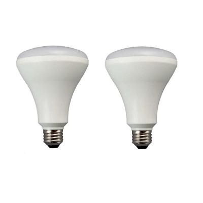 65W Equivalent Soft White E26 LED Dimmable Light Bulb (2-Pack)