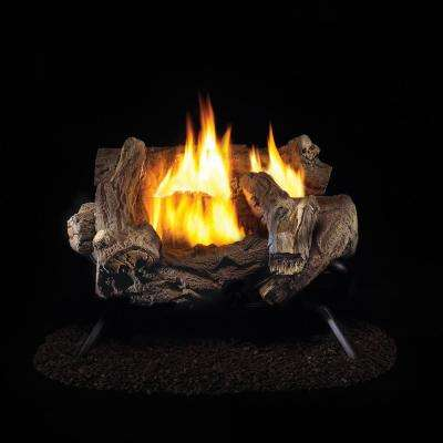 18 in. Vent-Free Natural Gas Log Set with Manual Control