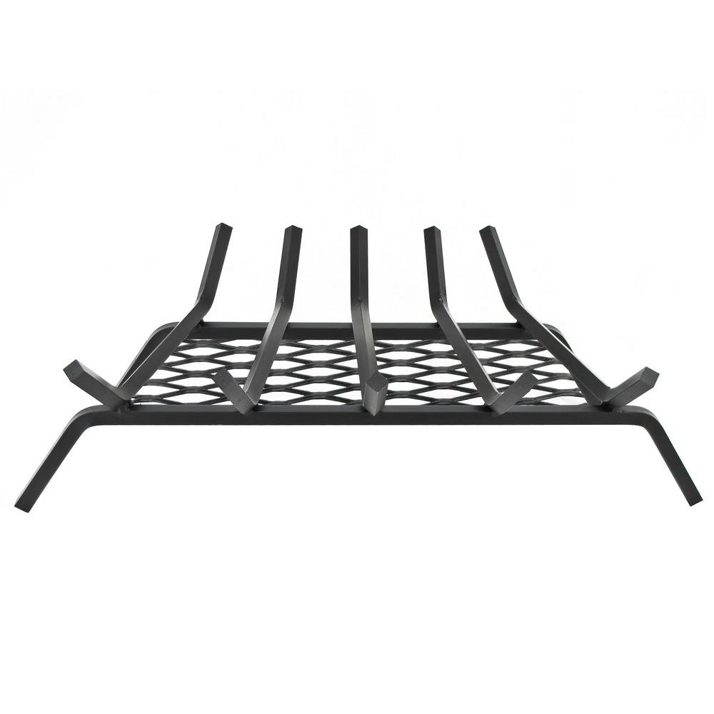 Pleasant Hearth 27 in. Fireplace Grate with Ember Retainer-DISCONTINUED