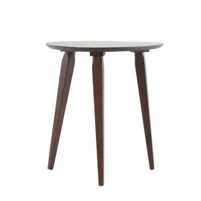 Isaiah Walnut Finish End Table