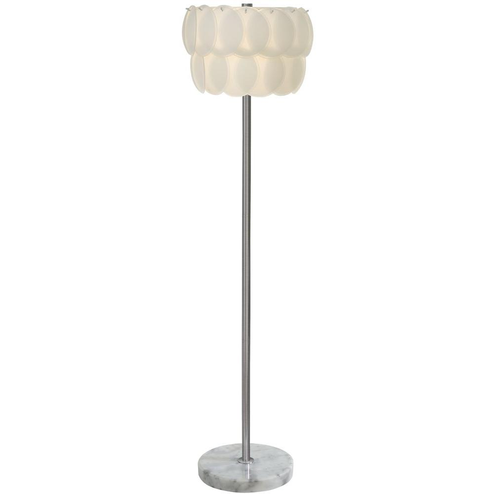 Trend Lighting Pique 57 in. Sateen White Floor Lamp-DISCONTINUED