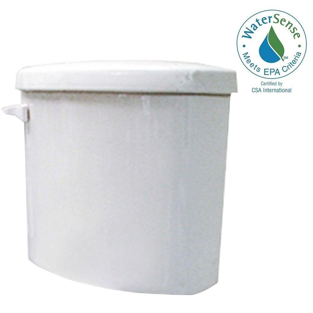 inside toilet tank parts. 1 28 GPF Single Flush Toilet Tank Only in White N2412T  The Home Depot