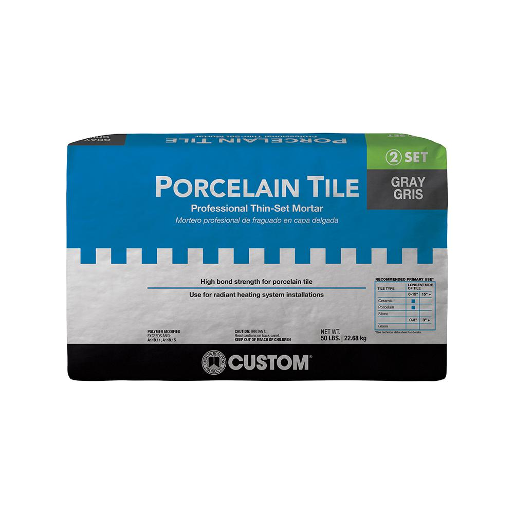 Custom Building Products Porcelain Tile Gray 50 lb. Fortified Thin ...